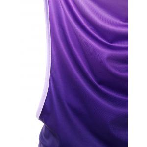 Ombre Cowl Neck Two Piece Tank Вверх -