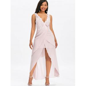 Sleeveless Asymmetrical Maxi Chiffon Dress -