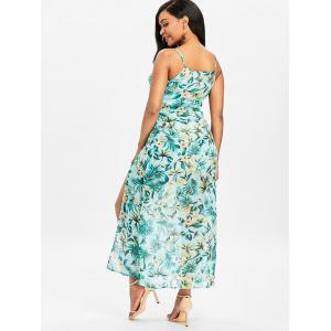 Floral High Slit Maxi Cami Dress -