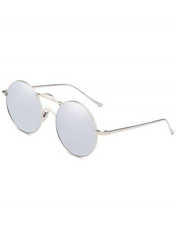 Outfit Anti Fatigue Top Bar Decorative Round Sunglasses