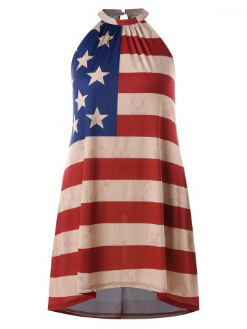 Fashion Plus Size Patriotic American Flag Dress