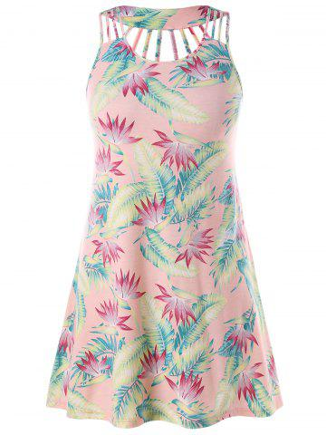 Cheap Strappy Plus Size Print Sundress