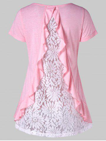 Buy Lace Insert Back Short Sleeve T-shirt
