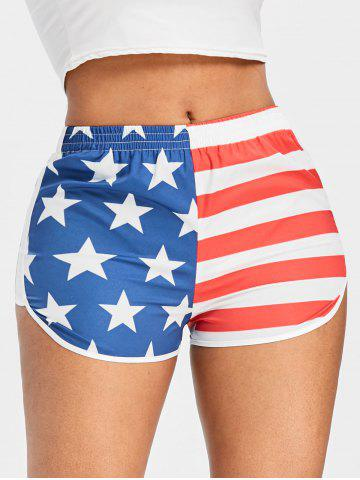 Shops American Flag Running Shorts