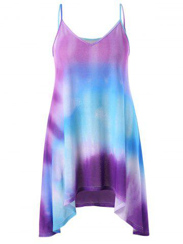 Outfit Plus Size Tie Dye Summer Dress