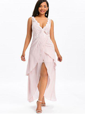 Sleeveless Asymmetrical Maxi Chiffon Dress