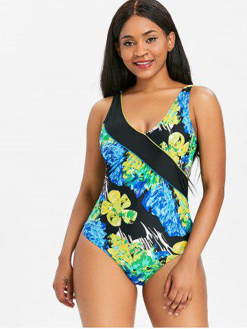 One Piece Handpainted Print Swimwear