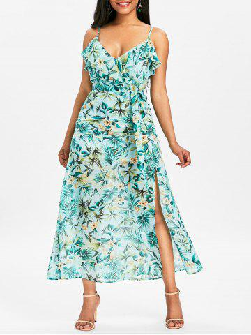 Buy Floral High Slit Maxi Cami Dress