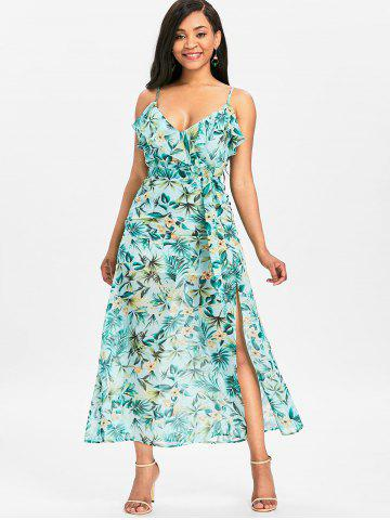 Floral High Slit Maxi Cami Dress