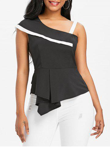 Outfits Asymmetrical One Shoulder Peplum Blouse
