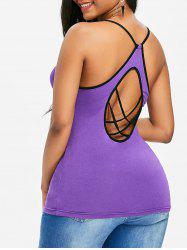 Cut Out Strappy Cami Tank Top -