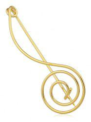 Musical Note Shape Alloy Brooch -