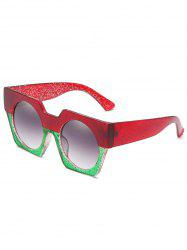 Anti Fatigue Large Frame Flat Lens Catty Sunglasses -