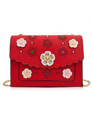 Hollow Out 3D Floral Detail Crossbody Bag -