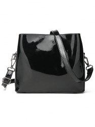 Chic Patent Leather Minimalist Crossbody Bag -