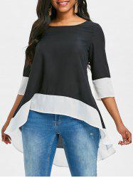 Flounce High Low Blouse -