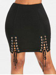Lace Up Mini Skirt -
