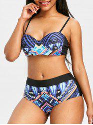 Ethnic Print Push Up Bikini -