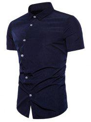 Asymmetrical Placket Fit Casual Shirt -
