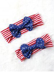Bowknot Decorated Elastic American Flag Headband -