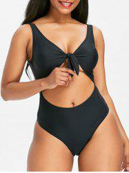One Piece Cut Out Cravate Maillots de bain avant -