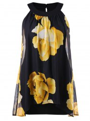 Floral Printed Plus Size Shift Dress -