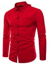 Long Sleeve Reversible Style Button Up Shirt -