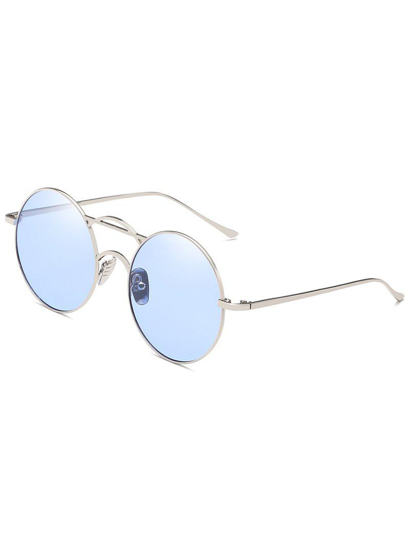 Hot Anti Fatigue Top Bar Decorative Round Sunglasses