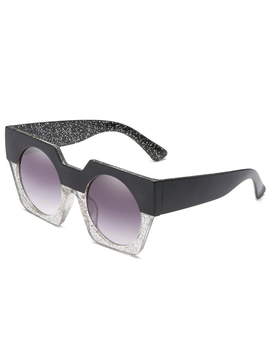 Unique Anti Fatigue Large Frame Flat Lens Catty Sunglasses