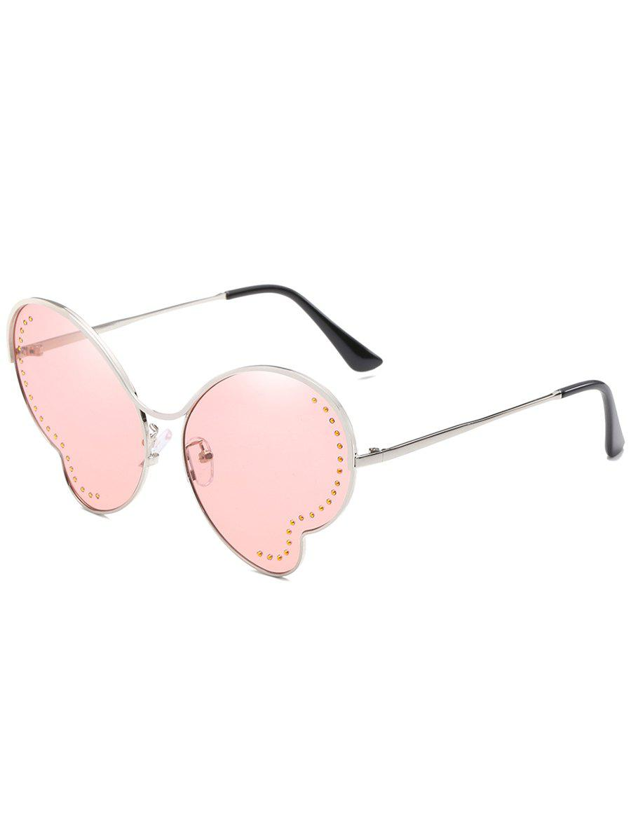 New Anti Fatigue Metal Beads Butterfly Sunglasses