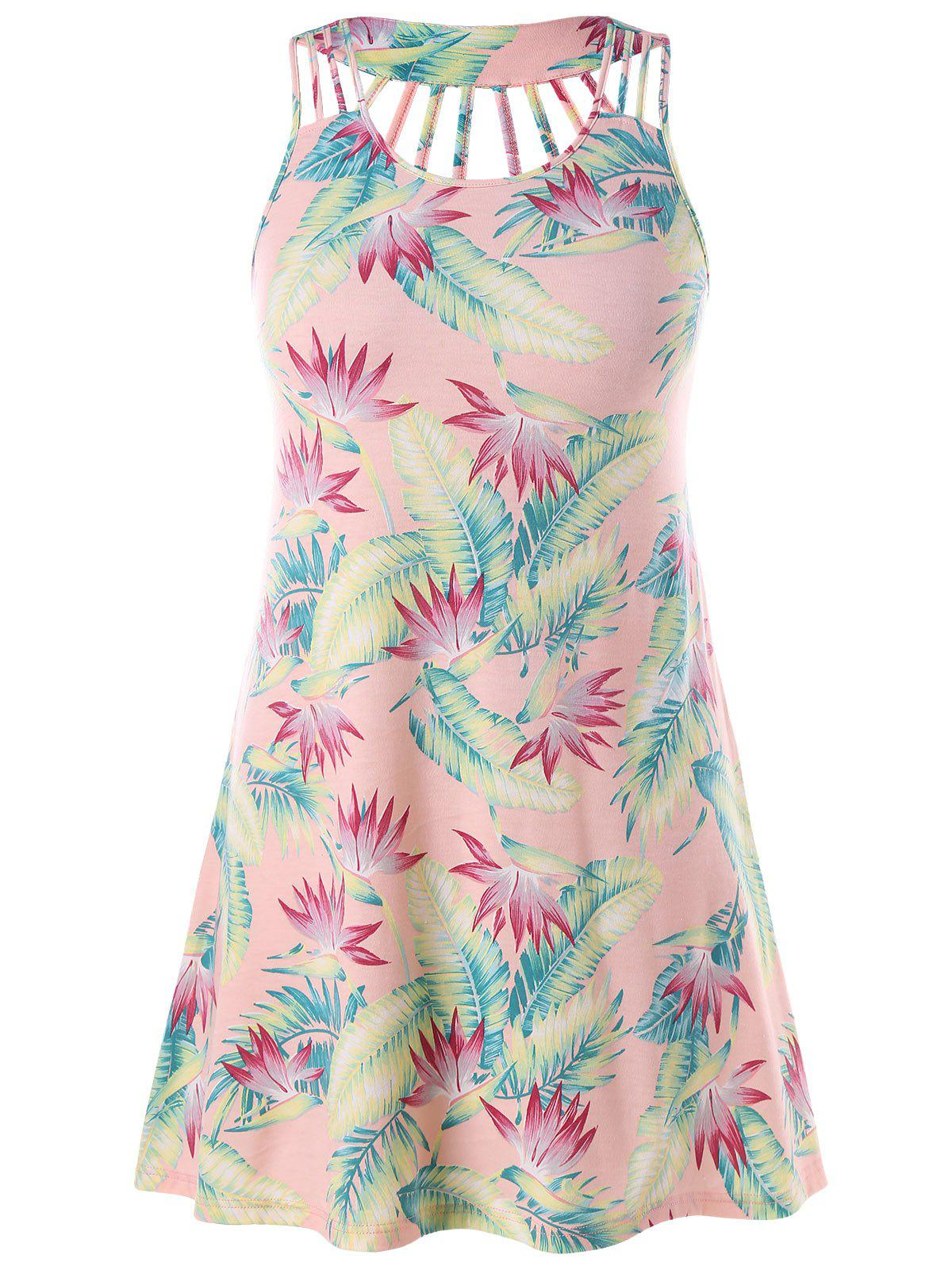 Discount Strappy Plus Size Print Sundress