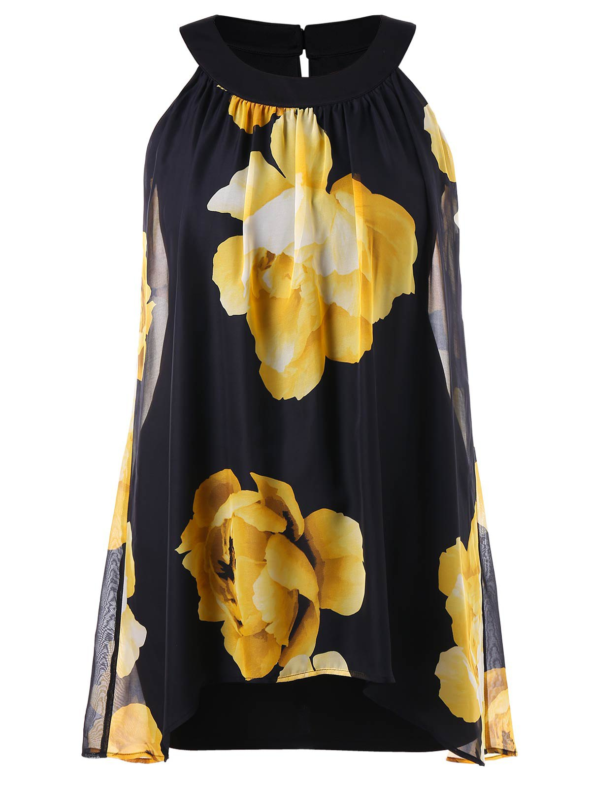 Best Floral Printed Plus Size Shift Dress