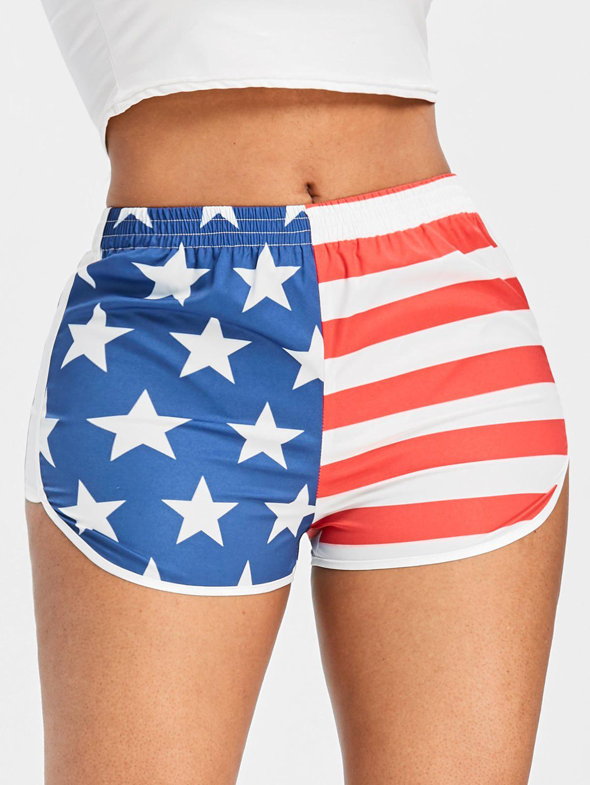 Sale American Flag Running Shorts