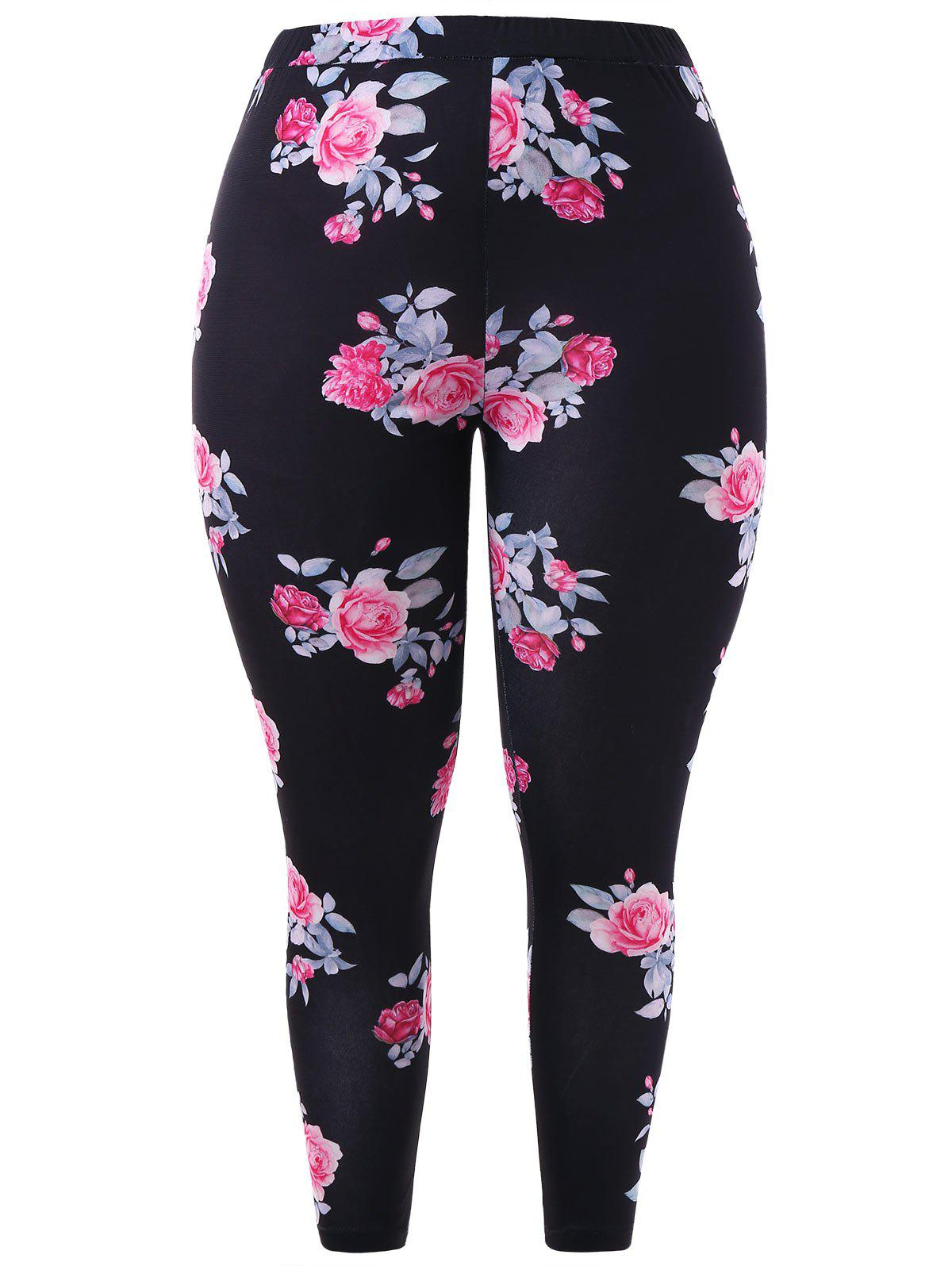 Online Plus Size High Rise Printed Leggings