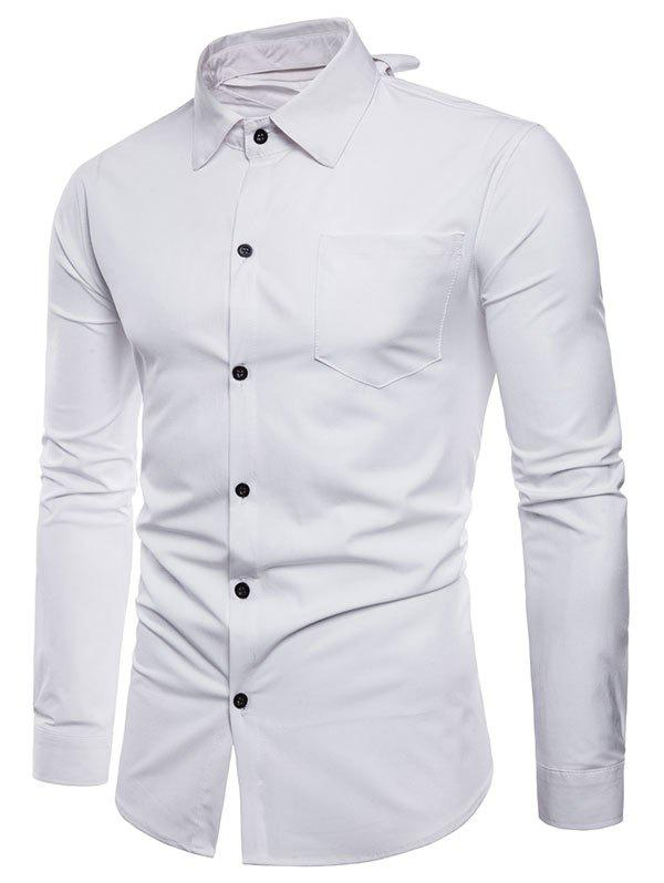 Discount Long Sleeve Reversible Style Button Up Shirt