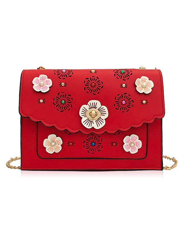 Outfits Hollow Out 3D Floral Detail Crossbody Bag