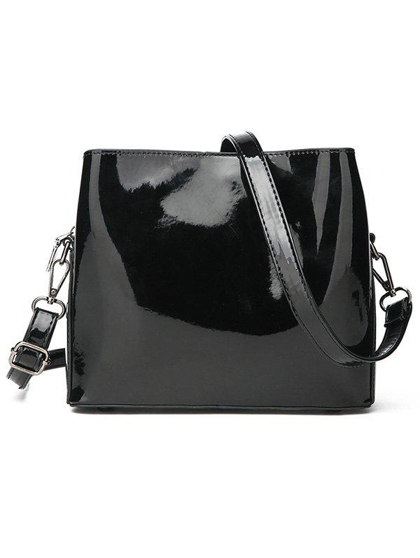 Best Chic Patent Leather Minimalist Crossbody Bag