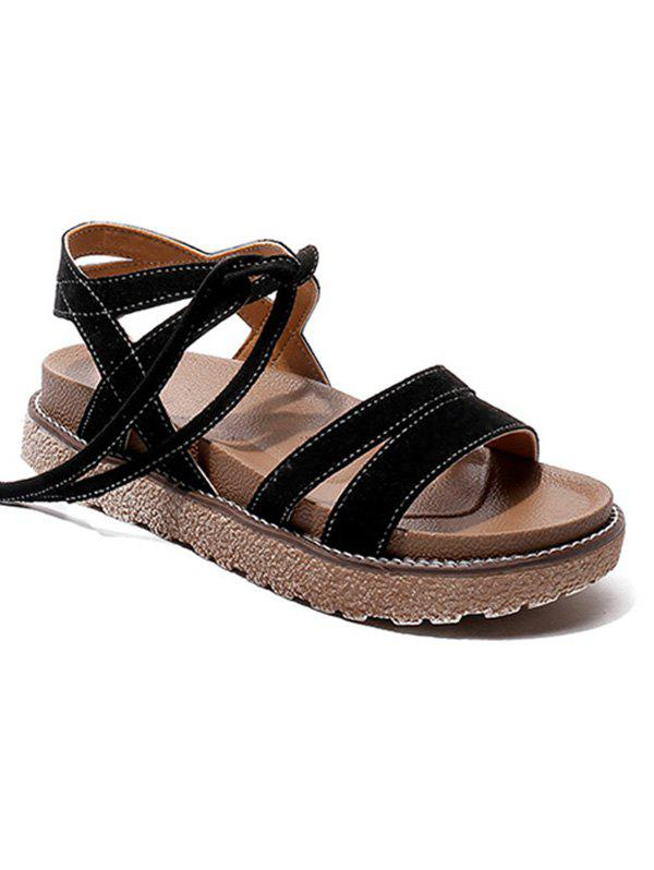 Sale Vacation Leisure Lace Up Sandals