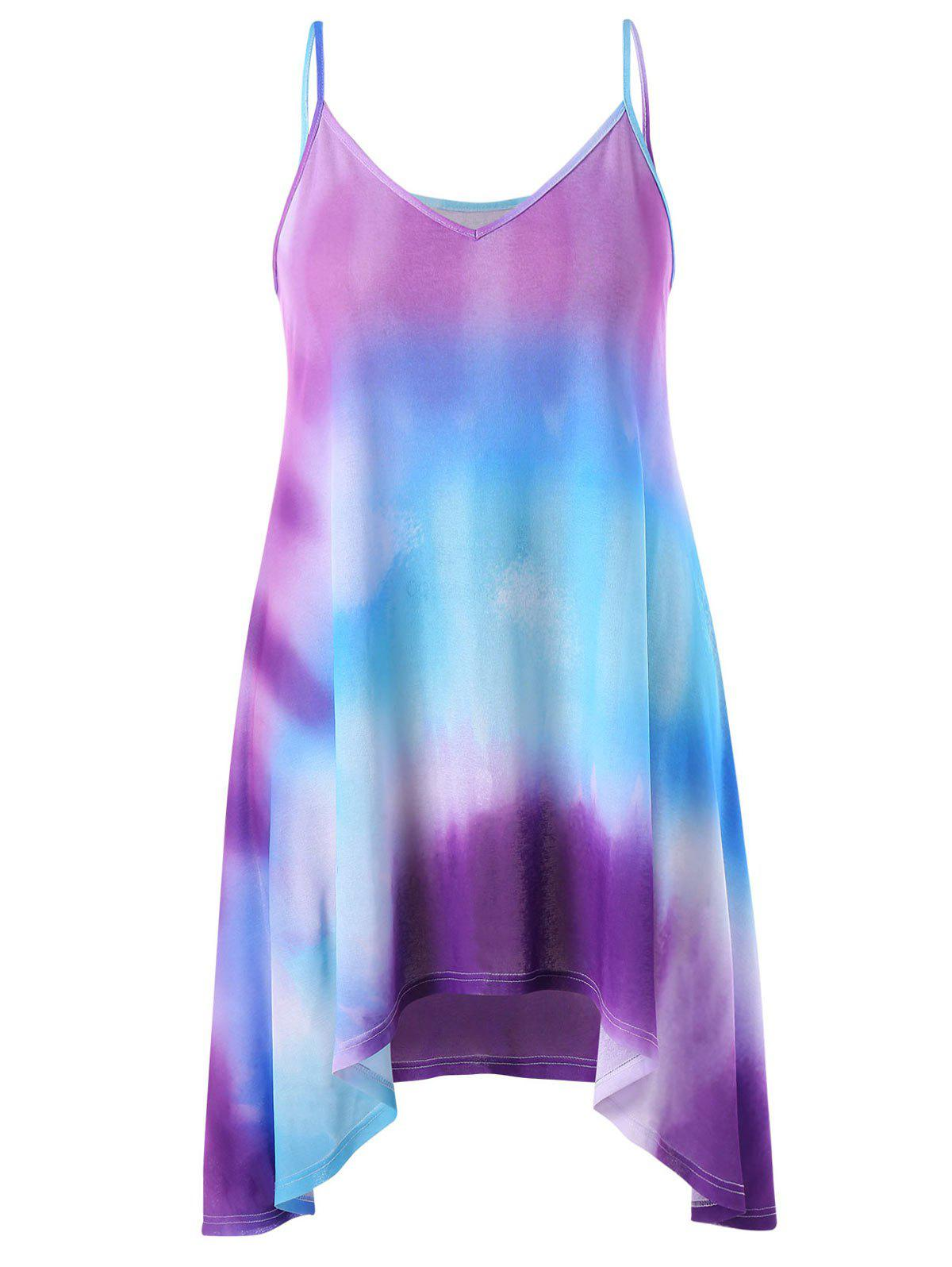Unique Plus Size Tie Dye Summer Dress