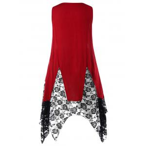 Plus Size Two Tone Handkerchief Tank Top -