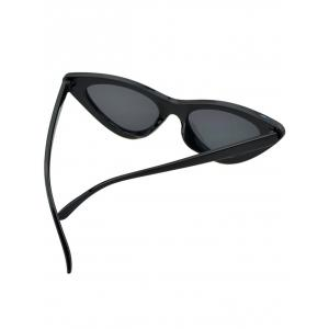 Anti Fatigue Plastic Frame Flat Lens Catty Sunglasses -