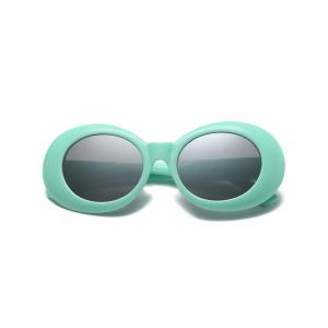 Anti UV Plastic Frame Oval Sunglasses -