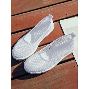 Flat Heel Mesh Slip On Casual Shoes -
