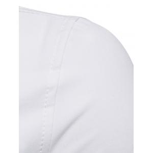 Suspenders Decorated Turndown Collar Shirt -