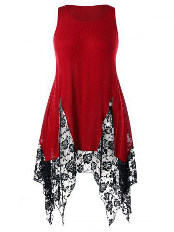 Shop Plus Size Two Tone Handkerchief Tank Top
