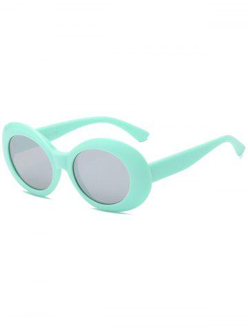 Trendy Anti UV Plastic Frame Oval Sunglasses