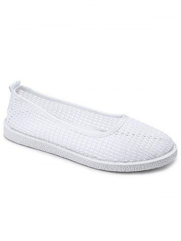 Unique Flat Heel Mesh Slip On Casual Shoes