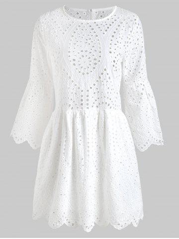 Hot Eyelet Mini Swing Dress