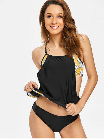 Cheap Layered Style Flower Blouson Tankini