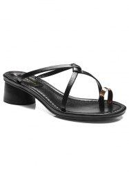 Chunky Heel Leisure Thong Sandals -
